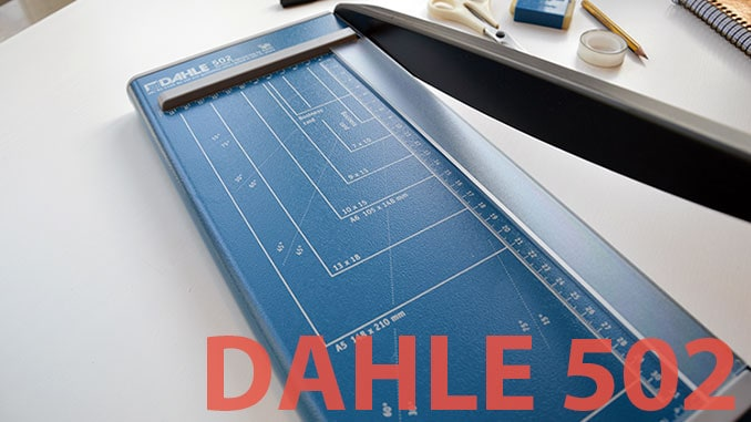 Dahle 502 lever cutting machine in our test