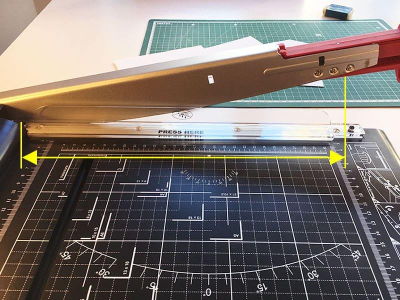 Cutting length Comparison paper cutter